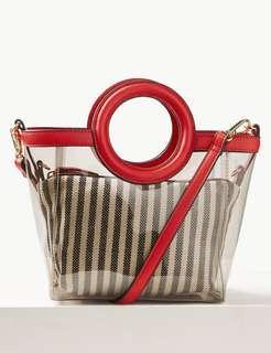 M&S Collection Mini Transparent Tote Bag