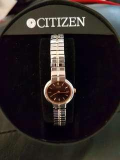 Gold and silver Ladies Citizen elastic watch