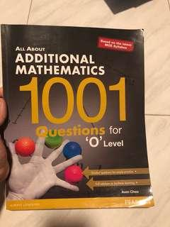 All About Additional Mathematics 1001 questions for Olevel, All about Chemistry(O level practice questions)