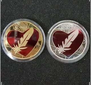 愛神之羽箭 金銀紀念幣共兩枚