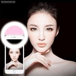 Pink Selfie Smartphone LED Ring Light / BRAND NEW / GTAPhotoStudio . com