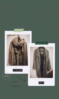 🚚 私|古着大衣 類千鳥紋西裝外套