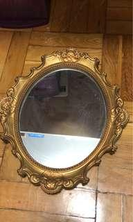 Gold vintage small mirror