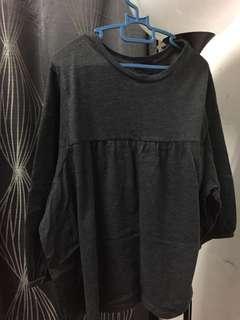 Black or greyyish doll top blouse