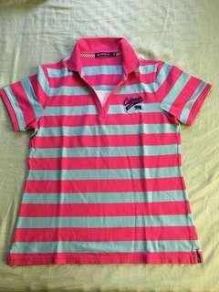 Hangten Polo Shirt for Women stripe