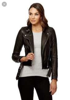 Samara leather jacket kookai