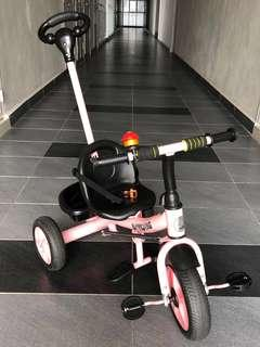 Kids Tricycle with Stroller Handle