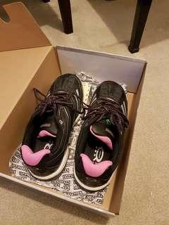 Black steel toe shoes (size 8.5)
