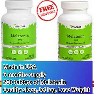 Free Mail 200 melatonin for sleep insomnia lose weight