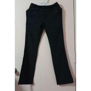 Preloved: Black Striped Slacks (size M)