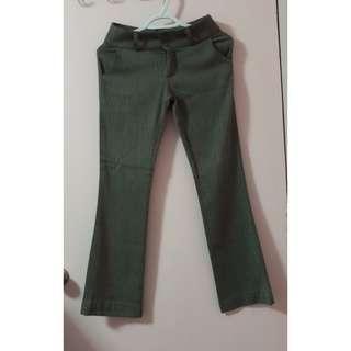 Preloved: Greenish Brown Striped Slacks (size S)