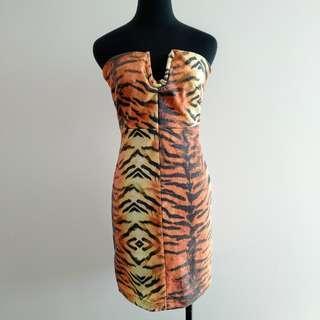 One teaspoon tiger print tube dress AU 8