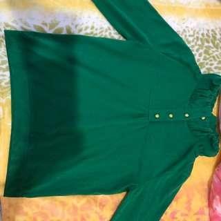 綠色 襯衫 上衣