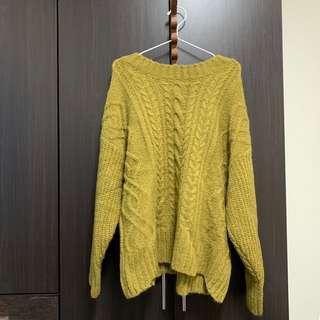 🚚 芥末綠毛衣