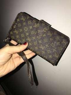 LV Monogram Phone Case 6+/7+ Wristlet Louis Vuitton