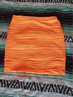 Orange skirt size 8