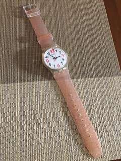 🚚 Swatch rose gold strap Watch BN