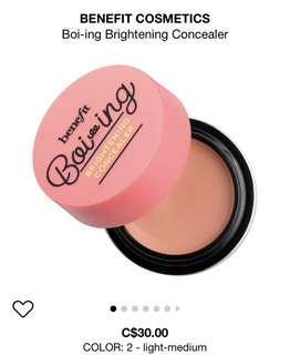 Benefit Cosmetics Boi-ing Concealer, Rockateur Blush, KA BROW