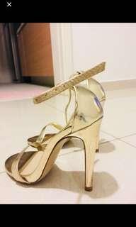 Gold Aldo heels