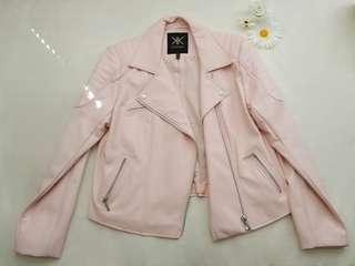 Kardashian Kollection Biker Jacket (Pale Pink)