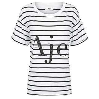 Aje Classic Stripe Logo Tee Size XS