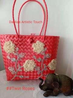 Twin roses inspired Bag