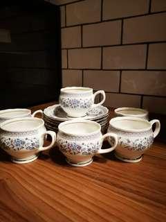 English 6 pcs tea set