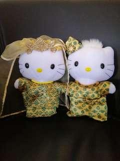 Mcdonald 2000 Hello Kitty  & Dear Daniel Malay wedding plush toys