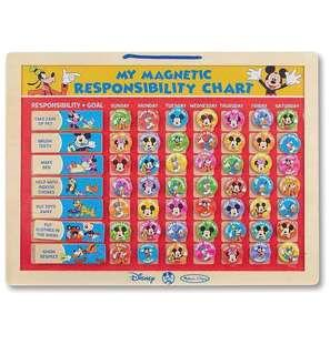 🚚 BN Melissa and Doug Disney Mickey Mouse My Magnetic Responsibility Chart