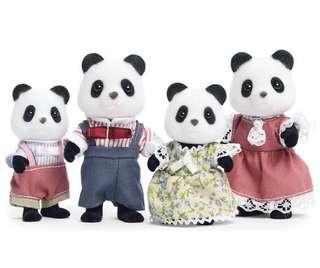 🚚 BN Sylvanian Families/Calico Critters Panda Family