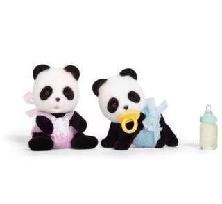 🚚 BN Sylvanian families/ Calico Critters Panda Twins