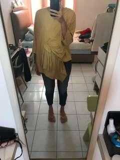 Yellow Knot Top