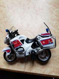警察電單車模型