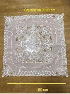 Table cloth ( cut out embroidery)