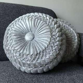 Handmade Silver Cushion
