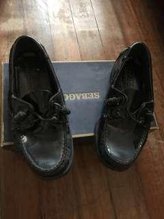 Sebago black shoes