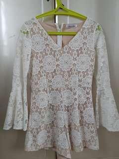 Romper Lace Putih