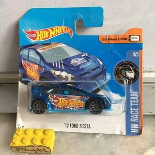 Hot Wheels Ford Fiesta Short Card