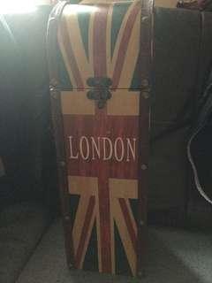 紅酒 🍷白酒 酒箱 酒瓶 英國🇬🇧風 London wine box 手提 一枝裝