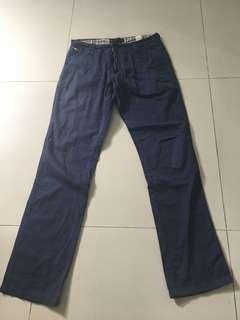 zara navy chino pants size 29-30