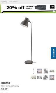 Ikea Hektar standing floor lamp