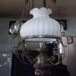 Antique Vintage REPRO BIG pulley lamp / Chandelier (bought in Indonesia)