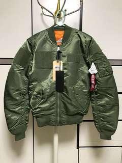 Alpha Industries MA1 slim flex bomber jacket