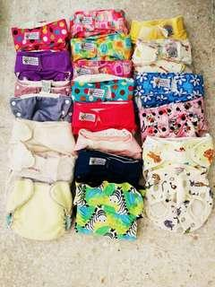 Preloved cloth diapers and inserts 40pcs