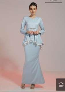 Haydena Peplum Luxe in Baby Blue