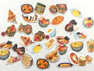 🚚 I love Japanese food flake stickers