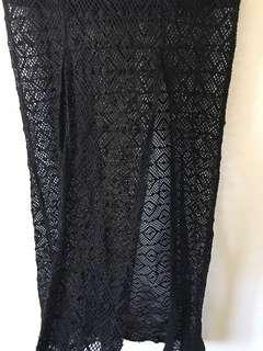 Nasty Gal Black Maxi Skirt with Splits