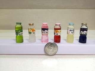 Miniature korea drinks
