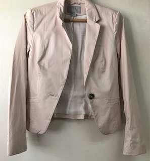 H&M Light Pink Blazer with Shoulder pads