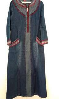 gamis jeans all size